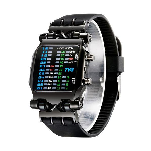 TVG Fashion Novelty Unique LED Digital Binary Watch