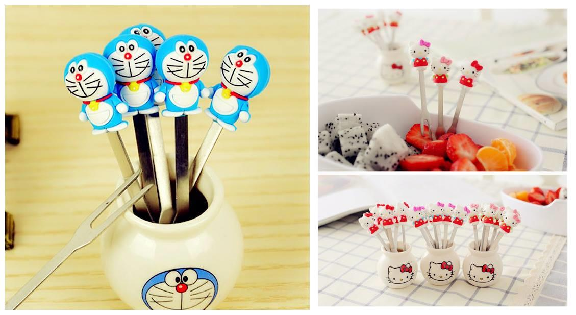 TW0197 ICONIC CARTOON FRUIT PICK SET