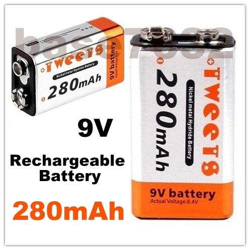 TWEENS 9V  Rechargeable Battery 280mAh Ni-MH