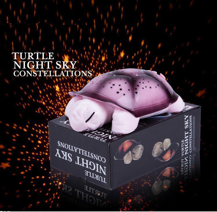 Twilight Turtle LED Night Light Star Lamp Projector Music Baby Sleep