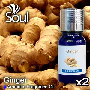 Twin Pack Fragrance Ginger - 10ml