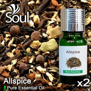 Twin Pack Pure Essential Oil Allspice - 10ml