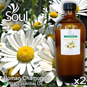 Twin Pack Pure Essential Oil Chamomile - Roman Chamomile - 500ml