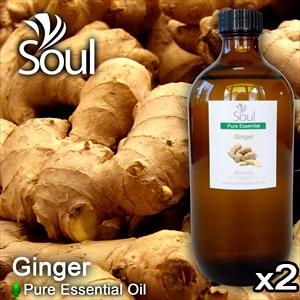 Twin Pack Pure Essential Oil Ginger - 500ml