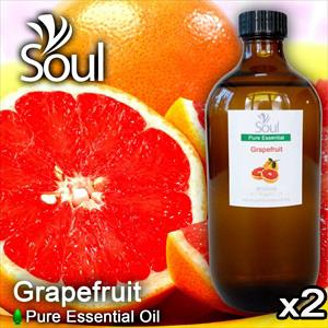 Twin Pack Pure Essential Oil Grapefruit - 500ml