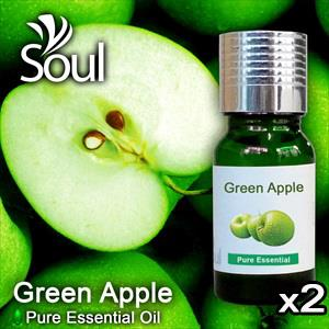Twin Pack Pure Essential Oil Green Apple - 10ml