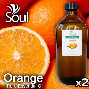 Twin Pack Pure Essential Oil Orange - 500ml