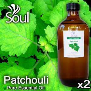 Twin Pack Pure Essential Oil Patchouli - 500ml