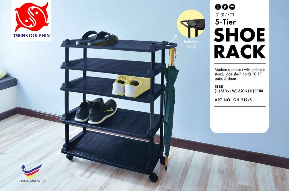 Twins Dolphin 5 Tier Shoe Rack With U-Stand