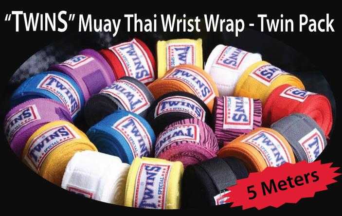 """TWINS"" Muay Thai Wrist Wrap - Twin (2pcs) Pack - 5 Meters"