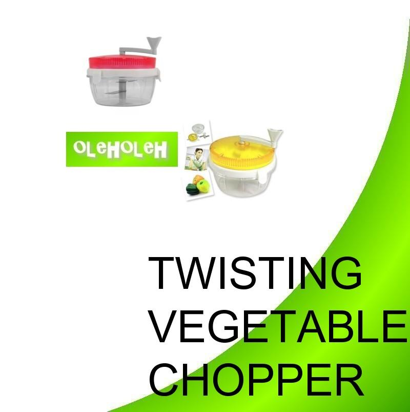 Twisting Vegetable Chopper Chop Foods Garlic Carrots
