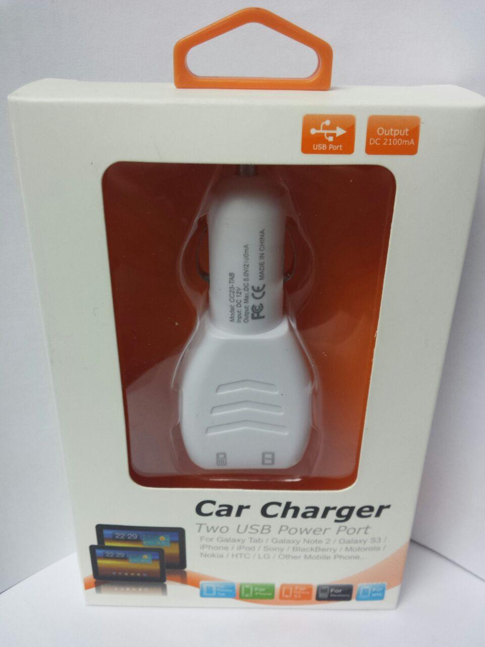 Two USB Port Universal Car Charger High Power Charging Rapid Charging