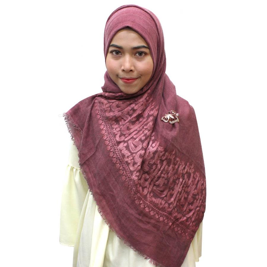 TYON Classic Pattern Shawl TYTJ022 Red