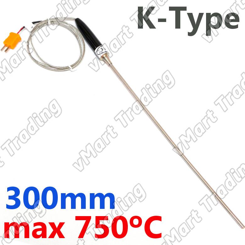 Type-K Thermocouple with Handle & 300mm Probe