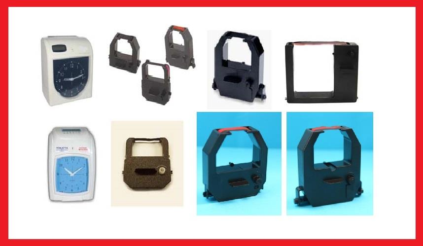 ALL TYPE TIME RECORDER /PUNCH CARD MACHINE INK RIBBON - ( ORIGINAL )