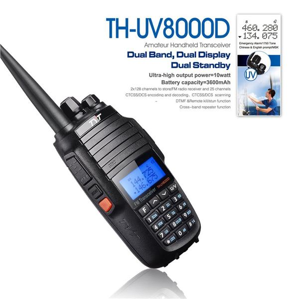 TYT TH-UV8000D 10W High Power Walkie-Talkie