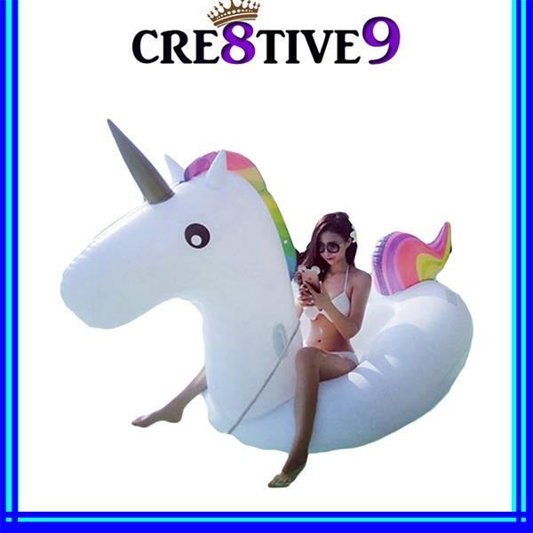 U275 Giant Inflatable Rainbow Unicorn Floatie for Adult