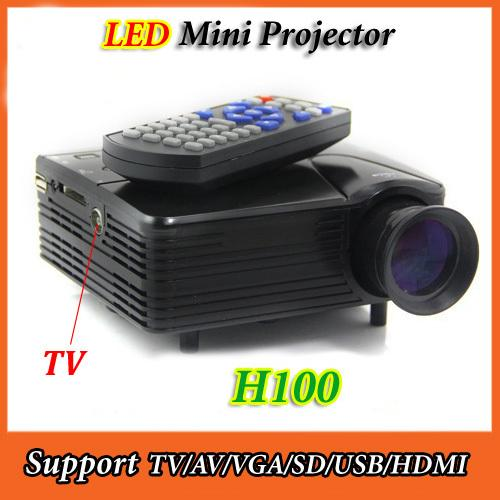 UC30 H100 Mini LAPTOP Projector LED wf TV Input HDMI VGA ...