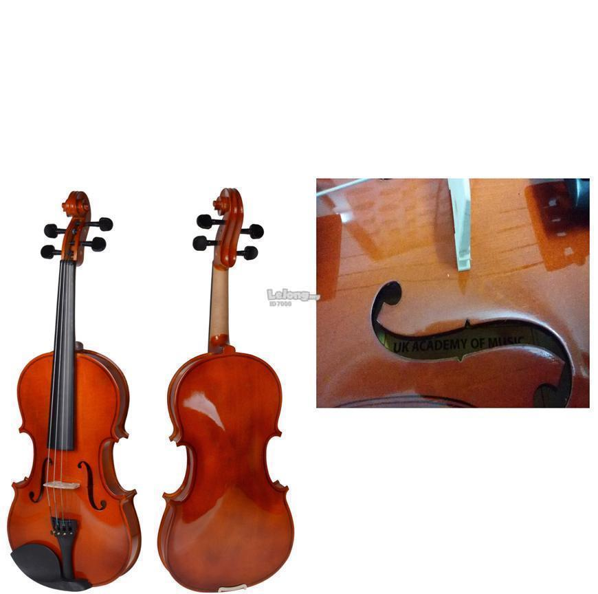 UK ACADEMY OF MUSIC Violin Free Hardcase, Bow and Rosin