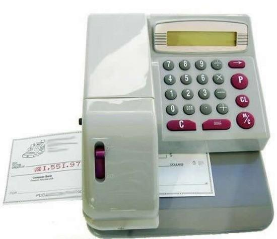 check writer machine with words