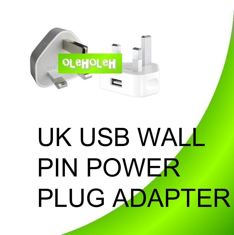 UK USB Charges Wall 3pin Power Plug Adapter for Smart Phone