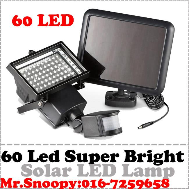 Ultra Bright 60 LEDs Motion Sensor Security Solar Light LED Flood Lamp