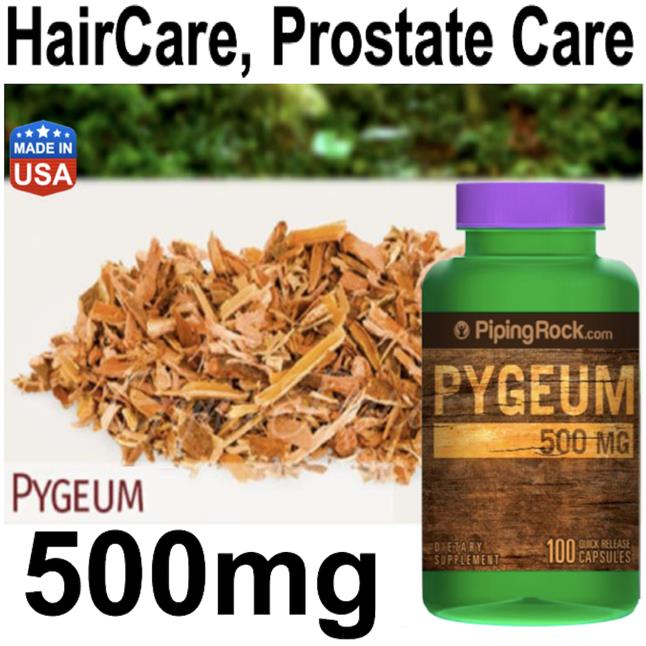 Ultra Pygeum 500mg, Herbal, (DHT blocker, Prostate Care, Haircare)