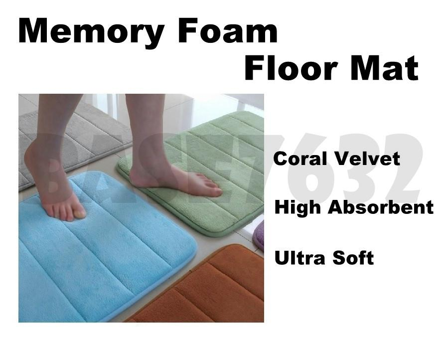 Ultra-soft Floor Mat High Absorbent Memory Foam Bath Carpet 1511.1