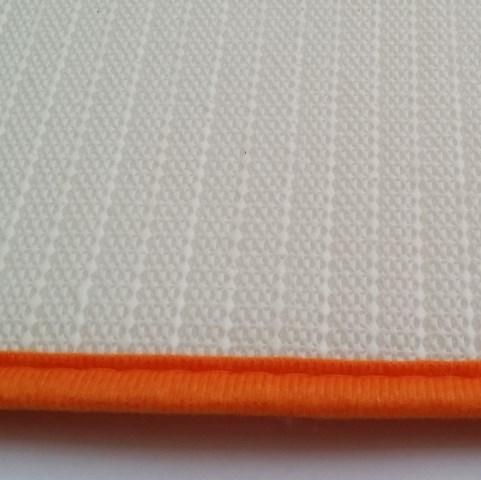 Ultra Soft Floor Mat High Absorbent Memory Foam - Orange & White