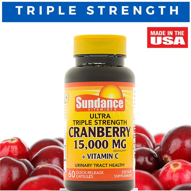 Ultra Triple Strength Cranberry 15,000 mg, 60 Caps (Bladder support)
