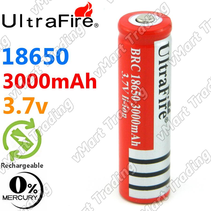 UltraFire 18650 3000mAh Rechargeable Li-ion Battery