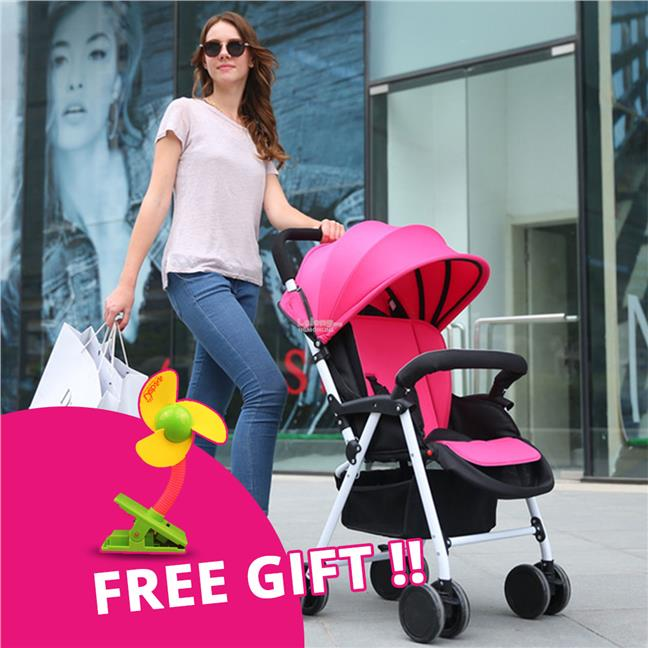 Ultraportability Strollers Foldable with Free Gift Clip Fan