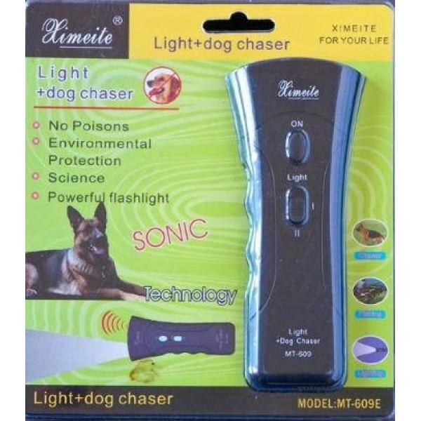 Ultrasonic Stops Dog Chaser Aggressive Animal Attack Deterrent Flashli