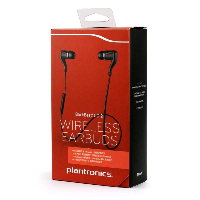 Uni One - PLANTRONICS BackBeat GO 2 Bluetooth EarBuds