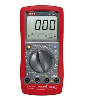 UNI-T Handheld Digital Automotive Multimeter + Thermometer UT106