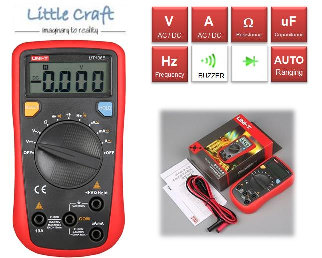 UNI-T UT136B Auto Ranging Digital Multimeter