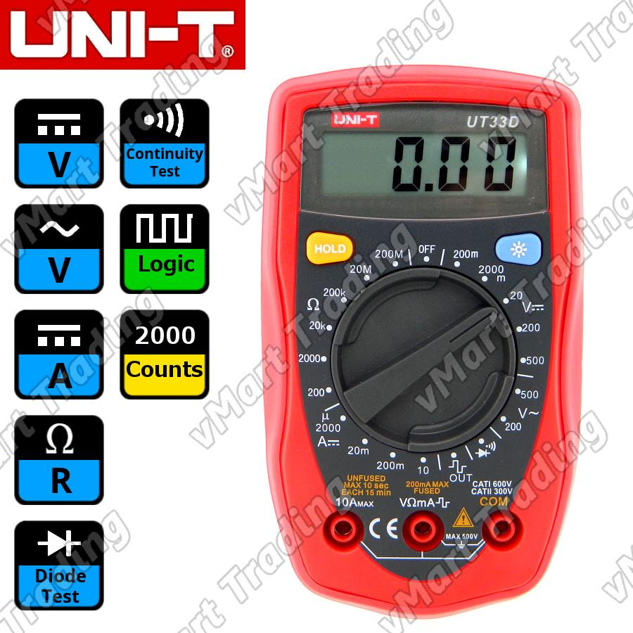 UNI-T UT33D Palm-Size Digital Multimeter