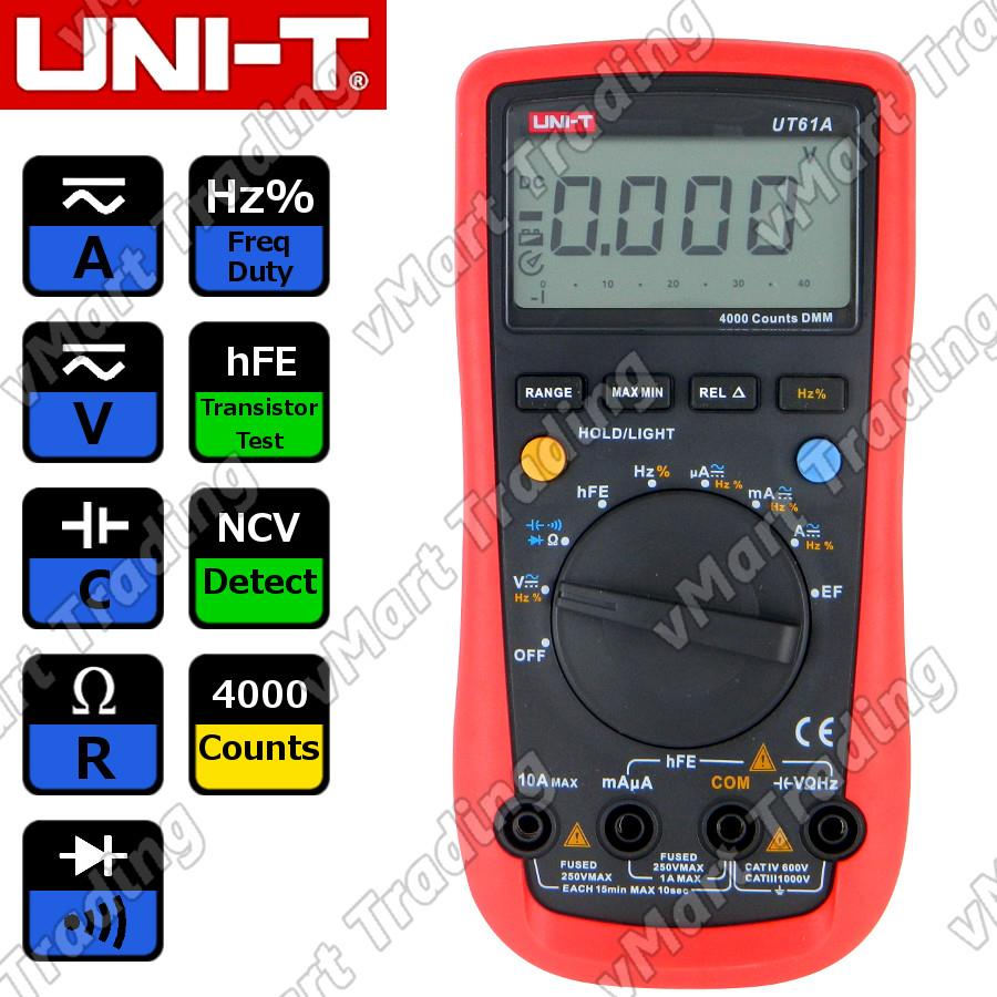 UNI-T UT61A Digital Multimeter + PC Data Logging