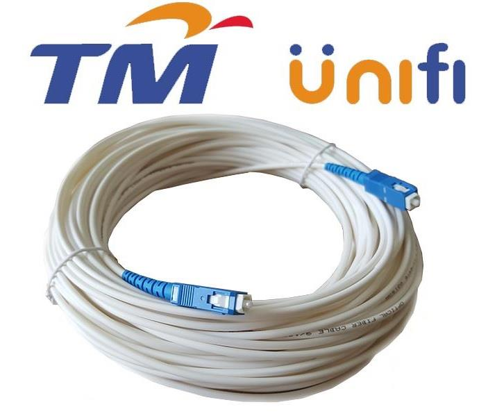 Unifi Maxis  Modem Fiber Cable Outdoor 3 Meter White ( S094)