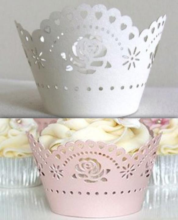 Unique Cupcake Case Wrapper - Rose (12pcs)