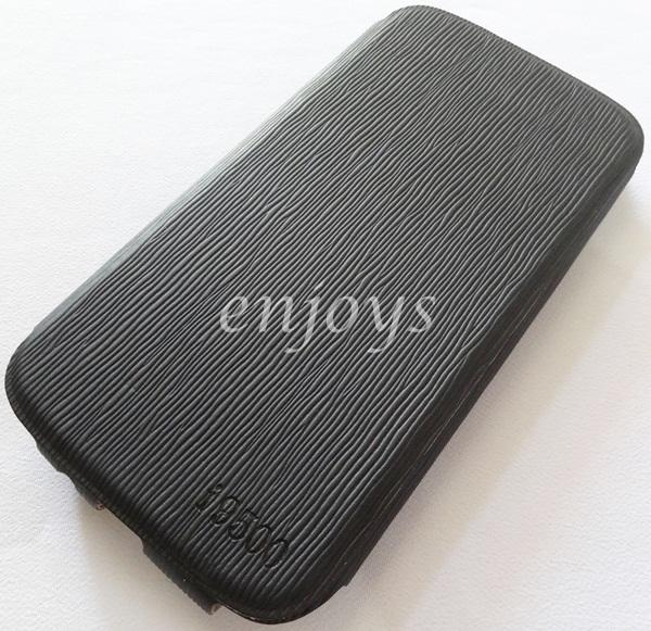 UNIQUE Leather Pouch FULL Cover Case Samsung I9500 Galaxy S4 ~BLACK