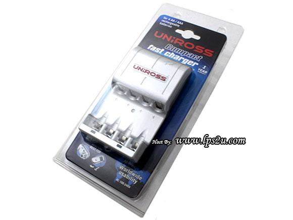 Uniross Fast Charger For AA, AAA Rechargeable Batteries(U0164160)