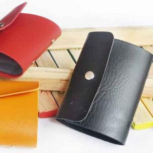Unisex Leather with Button 12 pcs Card Holder