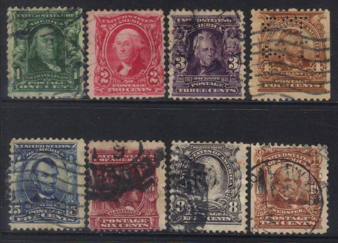 UNITED STATES 1902 USED stamps CAT £19+ BJ248