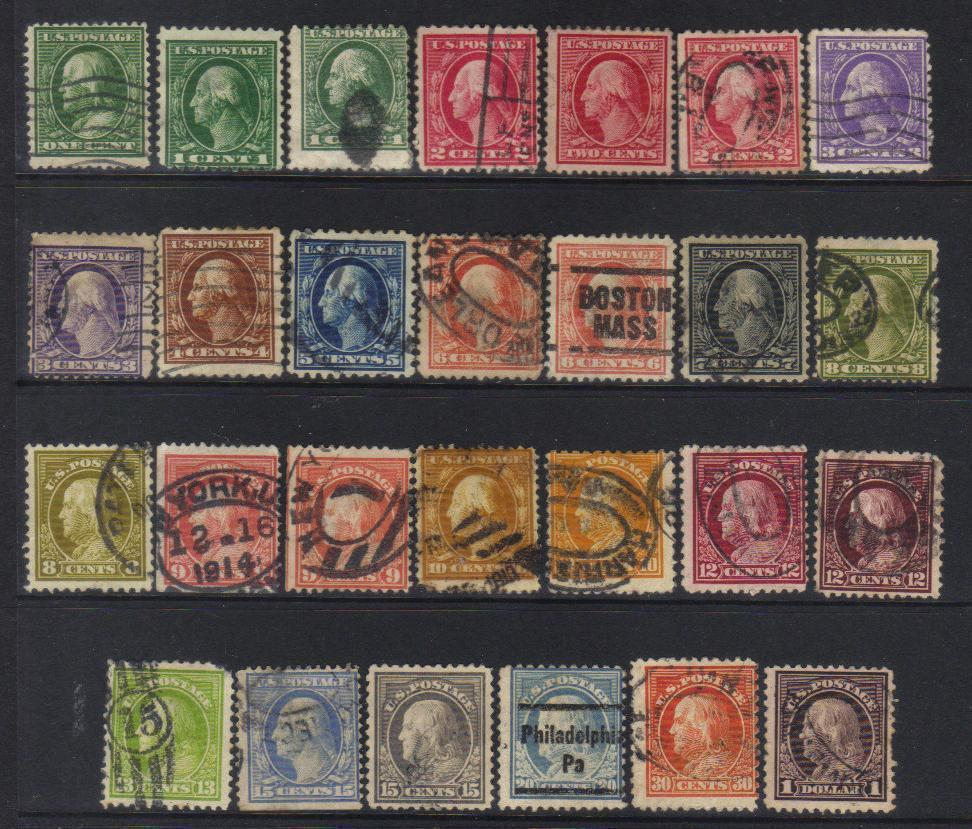 UNITED STATES 1908-1912 DEFINITIVES USED SELECTION CAT £40+ BJ264