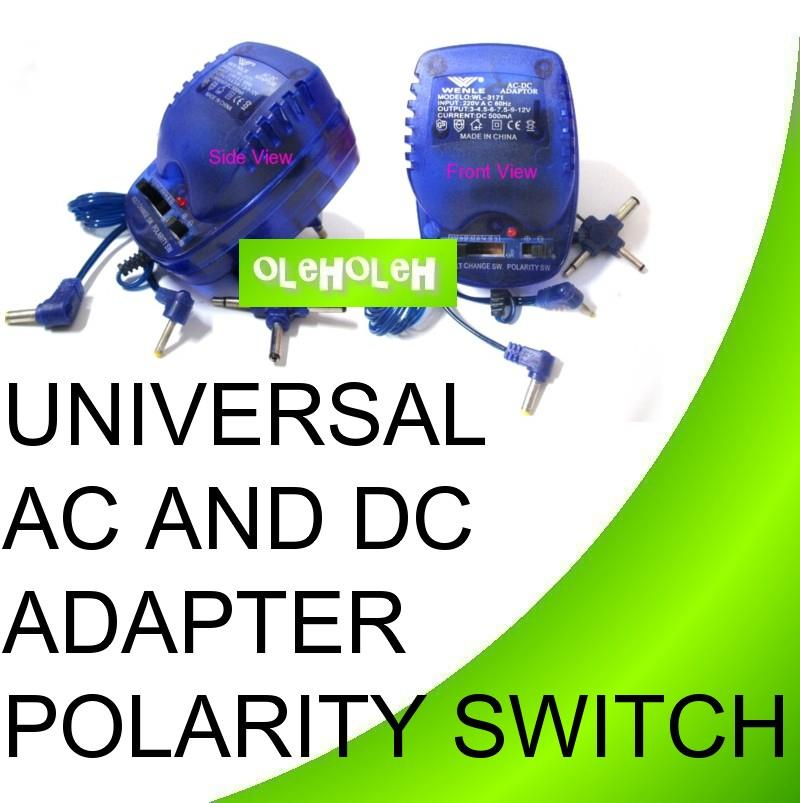 Universal 500mA AC and DC Adapter Polarity Switch