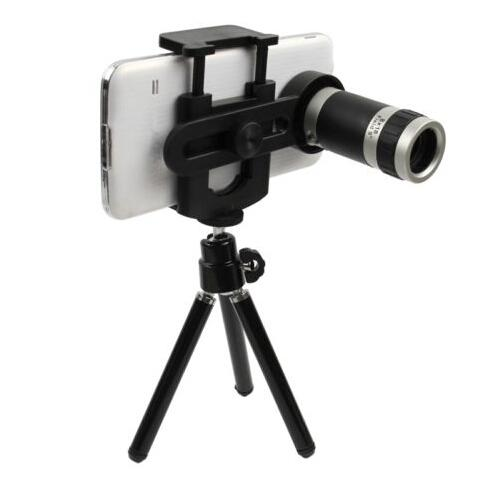 Universal 8X Zoom Telescope Camera Lens with Mini Tripod Mount Holder