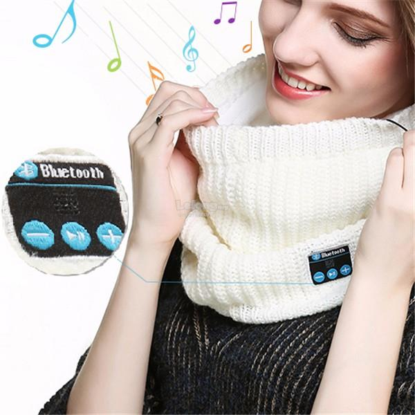 Universal Bluetooth Headset Collar Scarf Warm Winter Knitting Music