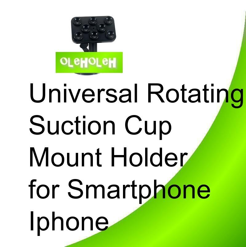 Universal Car Rotating Suction Cup Mount Holder for Smartphone