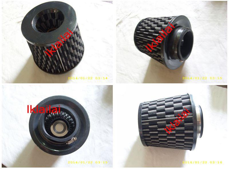 Universal Carbon Fiber Open Pod 3 inch Air Filter